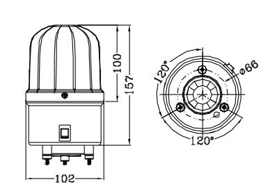 bc-2100小型声光报警器